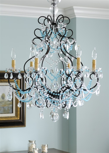 Baby Boy Blue Shabby Chic Chandelier