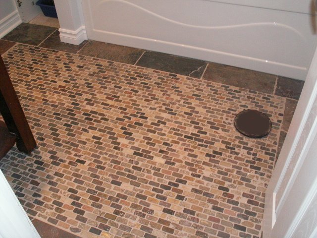 Slate Mosaic Tiled Floor