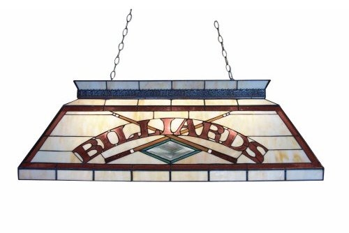 Classic Stained Glass Billiard Light Fixture