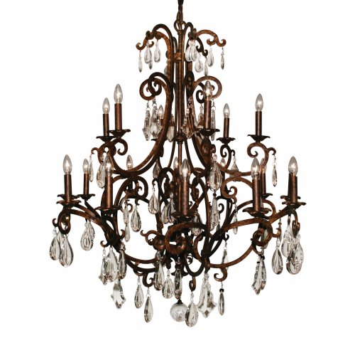 Bronzed Chandelier Light Fixture