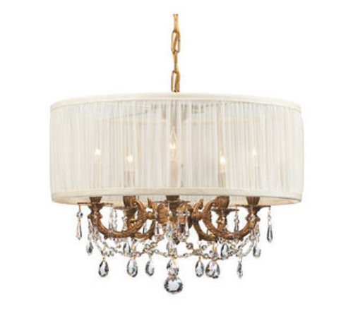 Nouveau Old World Shaded Chandelier Light Fixture