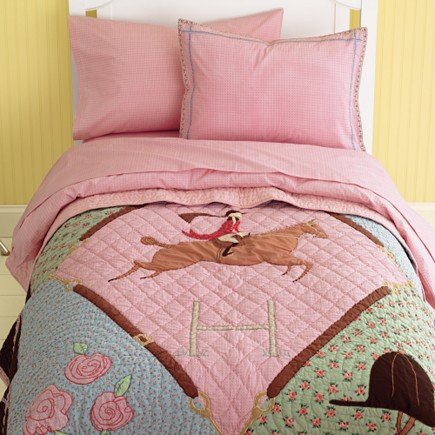 Equestrian Horse Themed Girls Kids Bedding