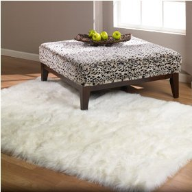 White Shag Rug - Area Rug - Shag Carpet