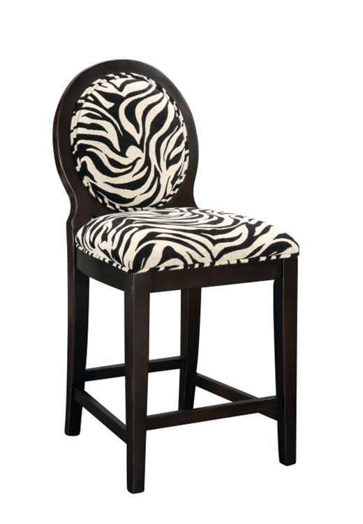 Buy Zebra Print Counter Height Bar Stool Now