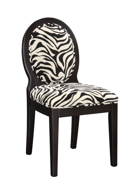 Zebra Print Dining Room Chair